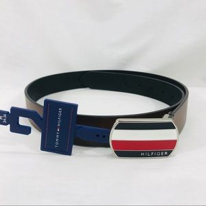 Tommy Hilfiger Brown Synthetic Leather Belt NWT